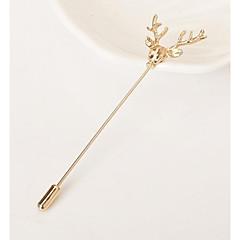 billige Motebrosjer-Herre Nåler Dyr Vintage Legering Uregelmessig Gull Sølv Smykker Til Fest Seremoni
