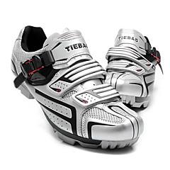 billige Sykkelsko-Tiebao® Voksne Mountain Bike-sko Karbonfiber Vanntett, Anti-Skli, Pustende Sykling Svart / Sølv / Hvit / Svart / Sølv / Svart Herre