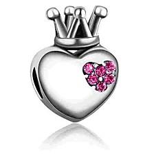billige Perler og smykkemaking-DIY Smykker 1 stk Perler Fuskediamant Legering Fuksia Blå Hjerte Perlene 0.2 cm DIY Halskjeder Armbånd
