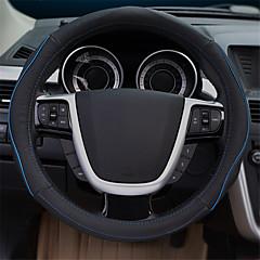 billige Rattovertrekk til bilen-Rattovertrekk til bilen ekte lær 38 cm Blå / Rød / Beige For Ford Focus / Escort / Mondeo Alle år