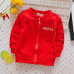 billige Hættetrøjer og sweatshirts til drenge-Drenge Simple Trykt mønster Langærmet Bomuld Bluse