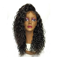 billiga Peruker och hårförlängning-Äkta hår 360 Fasad Peruk Brasilianskt hår Vattenvågor 360 Frontal Med hästsvans 180% Densitet Sidodel Naturlig hårlinje Korta Mellan Lång