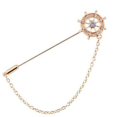 billige Motebrosjer-Herre Nåler Europeisk Mote Legering Geometrisk Form Smykker Til Fest Seremoni