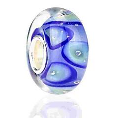 baratos Miçangas & Fabricação de Bijuterias-Jóias DIY 1 pçs Contas Esmalte Colorido Liga Azul Redonda Bead 0.2 cm faça você mesmo Colar Pulseiras