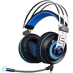 billiga Headsets och hörlurar-SADES A7-2 Headband Kabel Hörlurar Dynamisk Plast Spel Hörlur mikrofon headset