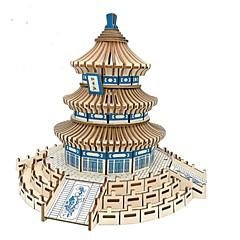baratos -Quebra-Cabeças 3D Quebra-Cabeças de Madeira Arquitetura Moda Arquitetura Chinesa templo do Céu Clássico Moda Novo Design Nível