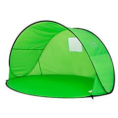 billige Telt og ly-2 personer Telt Enkelt camping Tent Utendørs Strandtelt Ultraviolet Motstandsdyktig Regn-sikker Støvtett til Camping & Fjellvandring