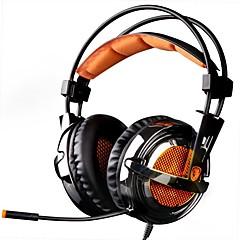 billiga Headsets och hörlurar-SADES A6 Headband Kabel Hörlurar Dynamisk Plast Spel Hörlur mikrofon headset