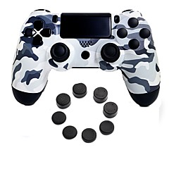 tanie PS4: akcesoria-bezprzewodowy kontroler gier bluetooth kontroler gamepad joystick gamepady z silikonową osłoną na ps4
