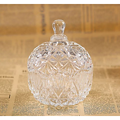 cheap Favor Holders-Circular Glass Favor Holder with Pattern / Print Favor Boxes - 1pc