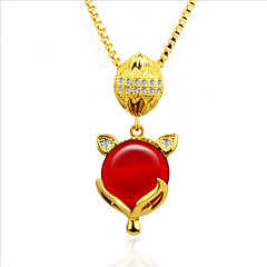 cheap Necklaces-Women's Shape Asian Elegant Pendant Necklace Onyx Crystal Rhinestone Crystal Zircon Gold Plated Pendant Necklace Wedding Daily