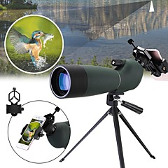 cheap Binoculars, Monoculars & Telescopes-25-75x70 Waterproof Zoom Monocular BAK4 Spotting Scope with Tripod Phone Holder Bird Watching