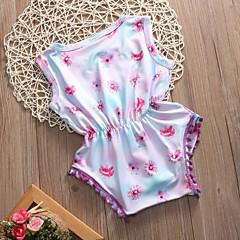 billige Pigetoppe-Baby Pige Afslappet / Boheme Daglig / I-byen-tøj Blomstret Klassisk Stil / Kvast / Blomster Uden ærmer Normal Polyester Bluse Lyseblå