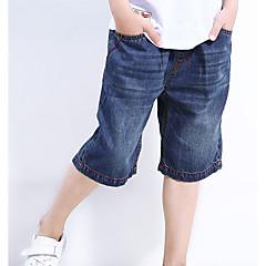 billige Gutteklær-Gutt Shorts Ensfarget Vår Blå