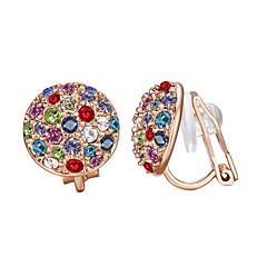 preiswerte Ohrringe-Damen vergoldet Kreolen - Europäisch Gold Kreisform Ohrringe Für Party / Geburtstag / Alltag