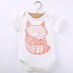 billige Babytøj-Baby Pige Ferie Ensfarvet / Trykt mønster Kort Ærme Bomuld Bodysuit / Sødt