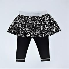 billige Bukser og leggings til piger-Pige Bukser Daglig Trykt mønster Farveblok, Bomuld Forår Sommer Sødt Aktiv Sort