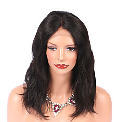 cheap Wigs & Hair Pieces-Virgin Human Hair Lace Front Wig Brazilian Hair Water Wave Wig 130% Natural Hairline Women's Mid Length Human Hair Lace Wig