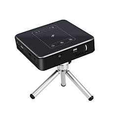 baratos Projetores-PULIERDE PJ-50 DLP Projetor para Home Theater LED Projetor 150 lm Android 7.1 Apoio, suporte 4K 40-300 polegada Tela / WVGA (800x480)