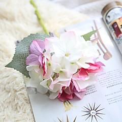 billige Kunstige blomster-Kunstige blomster 1 Gren Rustikk Bryllup Hortensiaer Bordblomst