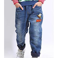 baratos Roupas de Meninos-Infantil Para Meninos Simples Estampado Manga Longa Jeans