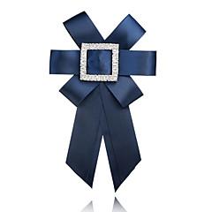billige Motebrosjer-Dame Nåler Rhinstein Formelt Mote Europeisk Tøy Sløyfe From Grå Lilla Rød Blå Marineblå Smykker Til Seremoni Formell