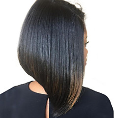 billiga Peruker och hårförlängning-Äkta hår Spetsfront Peruk 180% Densitet Dam Äkta peruker med hätta / Rak