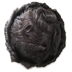 cheap Toupees-Men's Cool Human Hair Full Lace Cool