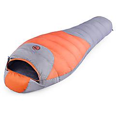 billiga Sovsäckar, madrasser och liggunderlag-Shamocamel® Sovsäck Utomhus -10 ~ -5°C Mumie Dun Bomull Håller värmen Vattentät Ultra Lätt (UL) Kompression för Höst Vinter