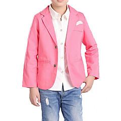 voordelige Jongenskleding-Kinderen Jongens Eenvoudig / Informeel Dagelijks Effen / Print Lange mouw Katoen / Polyester Kostuum & Blazer blauw