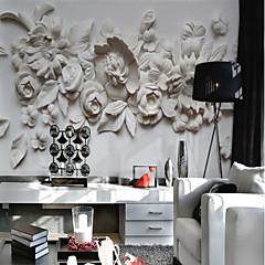 billige Tapet-Blomstret Art Deco 3D Hjem Dekor Klassisk Moderne Tapetsering, Lerret Materiale selvklebende nødvendig Veggmaleri, Tapet