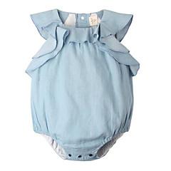 billige Babytøj-Baby Pige Simple Ensfarvet Uden ærmer Bodysuit