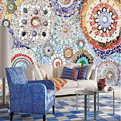 billige Tapet-Trykt mønster Art Deco 3D Hjem Dekor Vintage Moderne Tapetsering, Lerret Materiale selvklebende nødvendig Veggmaleri, Tapet