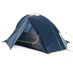 billige Telt og ly-Naturehike 1 person Telt Dobbelt camping Tent Ett Rom Brette Telt Bærbar Regn-sikker Sammenleggbar til Camping Utendørs Silikon Aluminium