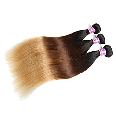 お買い得  人毛レミーみの毛エクステ-未処理 バージンヘア 髪織り 100% バージン 黒人女性用 ストレート ブラジリアンヘア 0.3kg 12ヶ月 日常着