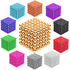 cheap Building Toys-216 pcs 3mm Magnet Toy Magnetic Balls / Building Blocks / Puzzle Cube Metalic / Magnet Magnetic Unisex Adults' Gift