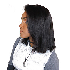 billiga Peruker och hårförlängning-Äkta hår Spetsfront Peruk 180% Densitet Dam Äkta peruker med hätta / Brasilianskt / Rak
