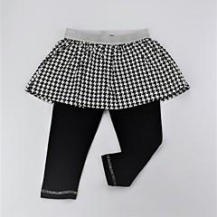 billige Bukser og leggings til piger-Pige Bukser Daglig Geometrisk Farveblok, Bomuld Forår Sommer Sødt Aktiv Sort