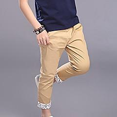 billige Drengebukser-Drenge Afslappet Daglig Ensfarvet Stilfuldt Specielle lædertyper Bukser Lyseblå 130