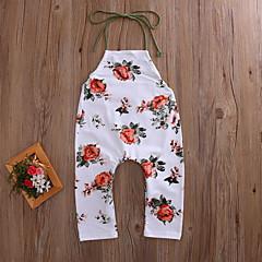 billige Babyunderdele-Baby Pige Boheme / Gade Ferie / I-byen-tøj Blomstret Åben ryg Uden ærmer Overall og jumpsuit