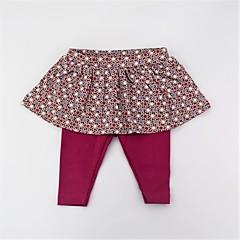 billige Bukser og leggings til piger-Pige Bukser Daglig Prikker Farveblok, Bomuld Forår Sommer Sødt Aktiv Rosa