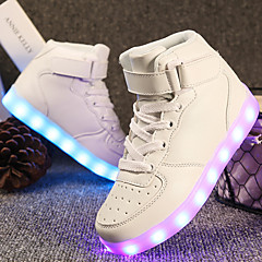 Boys' / Girls' Shoes Leatherette Spring Comfort / Light Up Shoes Sneakers Walking Shoes Lace-up / Hook & Loop / LED for Red / Blue / Pink