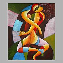 voordelige Olieverfschilderijen-Hang-geschilderd olieverfschilderij Handgeschilderde - Abstract Modern Zonder Inner Frame / Rolled Canvas