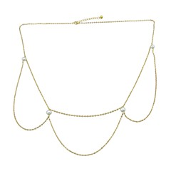 baratos Bijoux de Corps-Corrente para Cintura Rock Mulheres Dourado Bijuteria de Corpo Para Baile de Formatura / Bagels