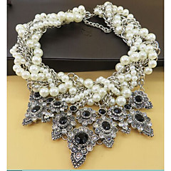 cheap Necklaces-Women's Flower Collar Necklace Statement Necklace  -  Oversized Sweet Black 45cm Necklace For Wedding Evening Party