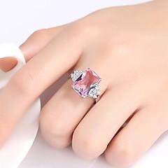 billige Motering-Dame Kubisk Zirkonium Band Ring - Vintage, Elegant 6 / 7 / 8 / 9 Rosa Til Bryllup Engasjement Seremoni