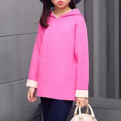baratos Roupas de Meninas-Para Meninas Suéter & Cardigan Sólido Outono Todas as Estações Algodão Fofo Rosa Cinzento Fúcsia