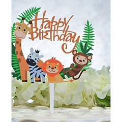 billige Kakedekorasjoner-Kakepynt Fødselsdag Dyremønster Acryic / Polyester Bursdag med Akryl 1pcs OPP