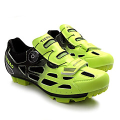 billige Sykkelsko-Tiebao® Mountain Bike-sko Karbonfiber Anti-Skli, Anvendelig, Pusteevne Sykling Grønn / Svart Herre