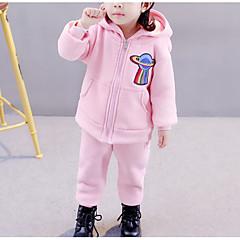 tanie Odzież dla dziewczynek-Brzdąc Dla dziewczynek Nadruk Długi rękaw Bawełna Bluza z kapturem / bluza / Urocza